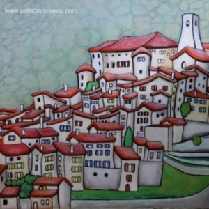 Painting of Bar sur Loup