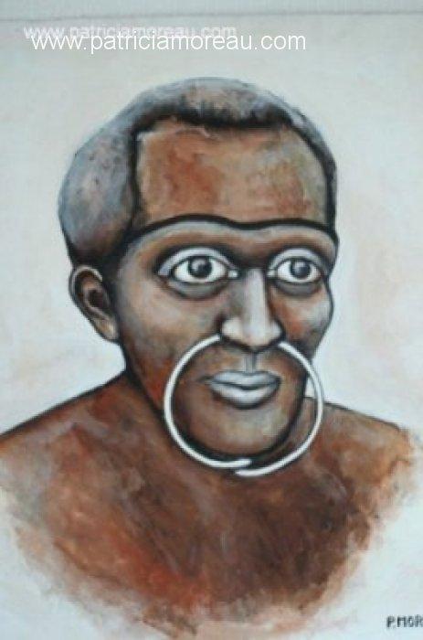 Patricia moreau portrait papouasie peinture acrylique