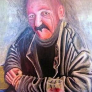 Patricia moreau portrait de Huges, le cannet,café des sports