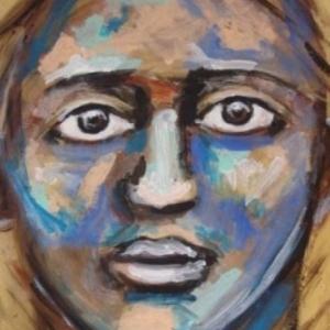 Patricia moreau portrait homme bariole