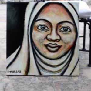 Patricia moreau portrait malaysian woman peinture acrylique femme malaisie