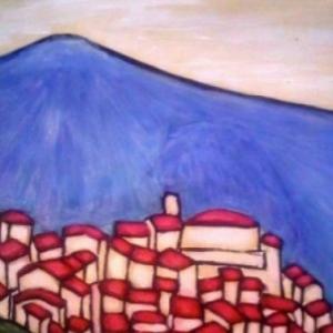 Painting of Bar sur Loup pic des courmettes
