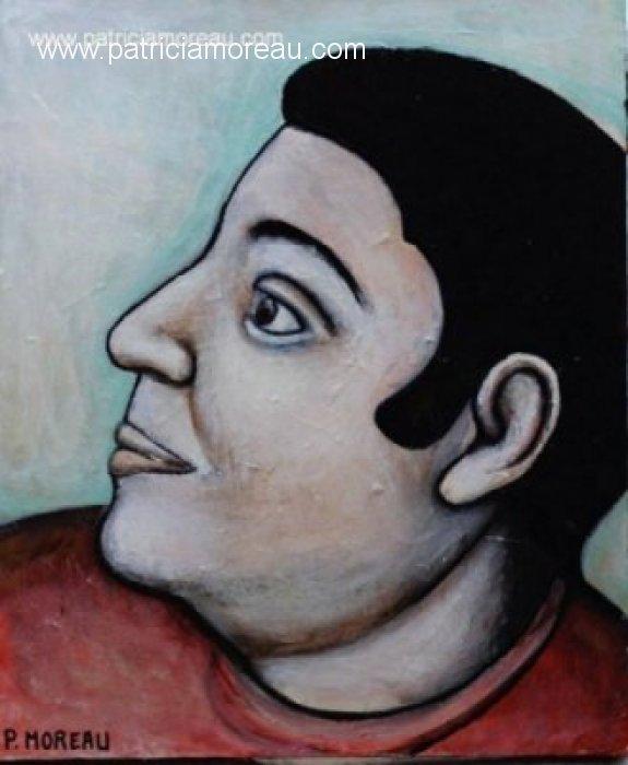 Portrait peinture acrylique