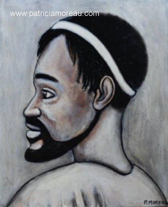 Patricia moreau portrait peinture acrylique