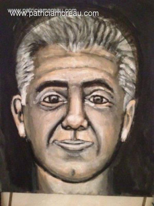 Patricia moreau portrait peinture Gege