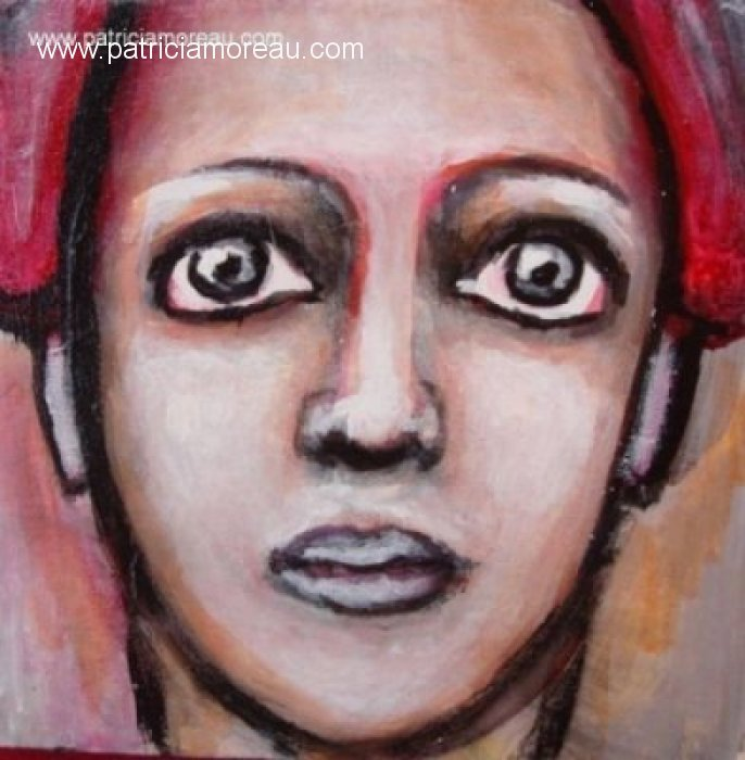 patricia moreau portrait red hair woman