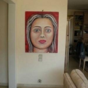 patricia moreau portrait femme aux cheveux rouge
