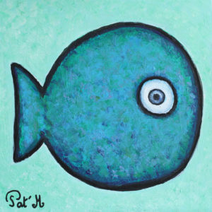 Blue fish artwork