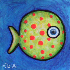 funny fish painting