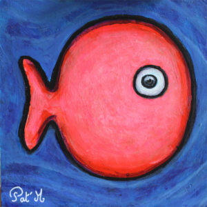 Pink fish artwork