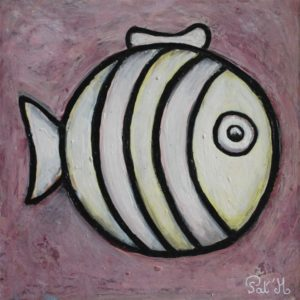 White fish painting for kids