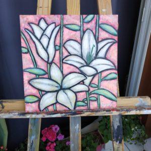 Fleur de lis. Peinture à vendre